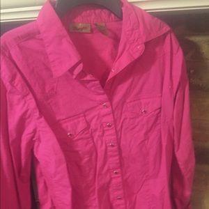 Hot Pink Pearl Snap Shirt